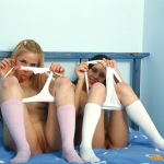 Horny girls experimenting