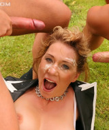 Horny girl is gangbanged outdoor (11)