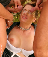 Horny girl is gangbanged outdoor (12)