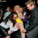 Porno orgies in the nightclub