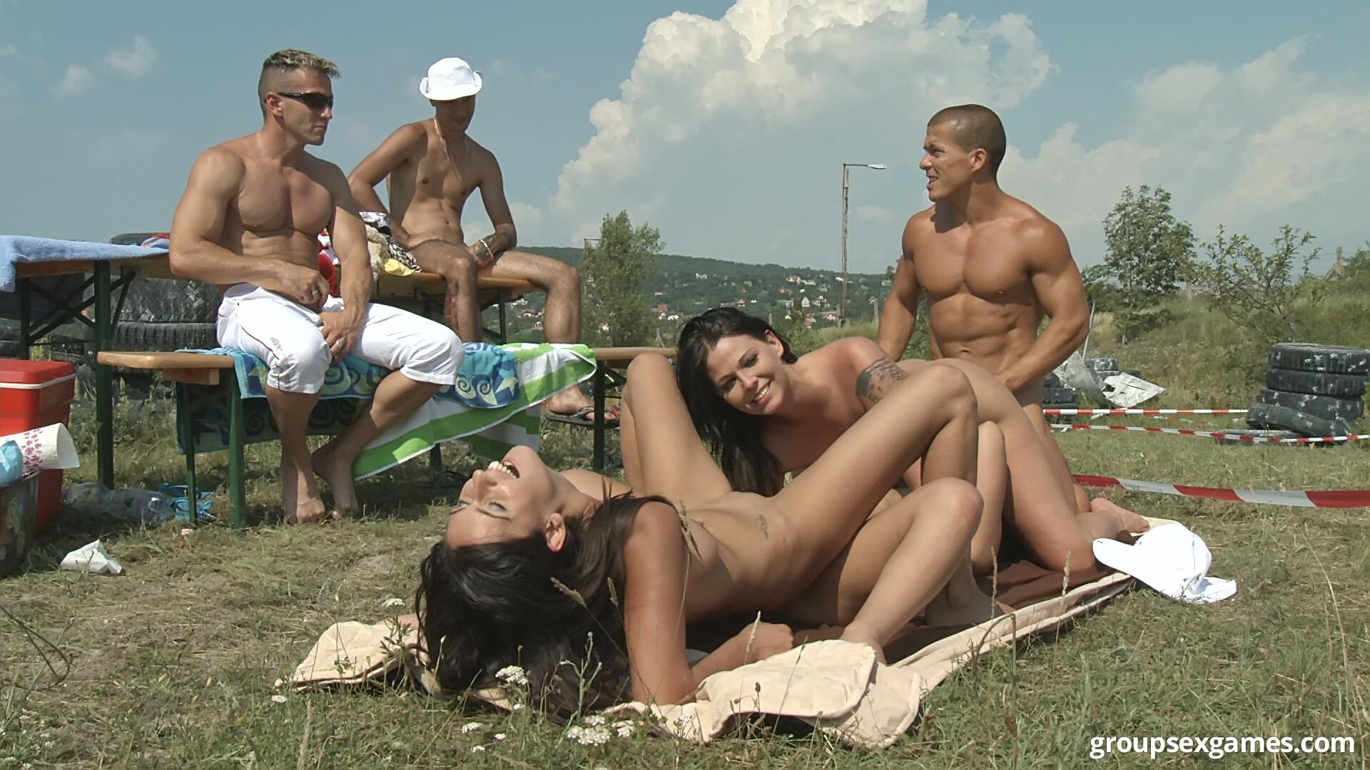 Outdoor Bbw Orgy Video
