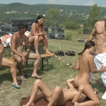 Outdoor sex orgy