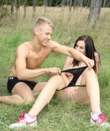 Couple fucking in the grass (2)